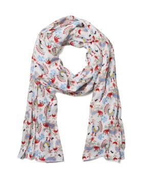 BIRDS MM KNITTED SCARF
