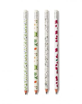 VOUKAMVILIA/ELIA/FRAGOSYKO/PEFKO PENCIL SET OF 4