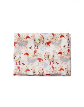BIRDS MM SILK COTTON SCARF