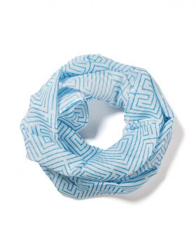 LABYRINTH SILK COTTON SCARF