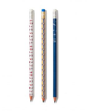 KNOSSOS STILES/PHAISTOS/KAZANTZAKIS PENCIL SET OF 3