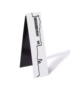 SKYLINE ACROPOLIS BOOKMARK MAGNET